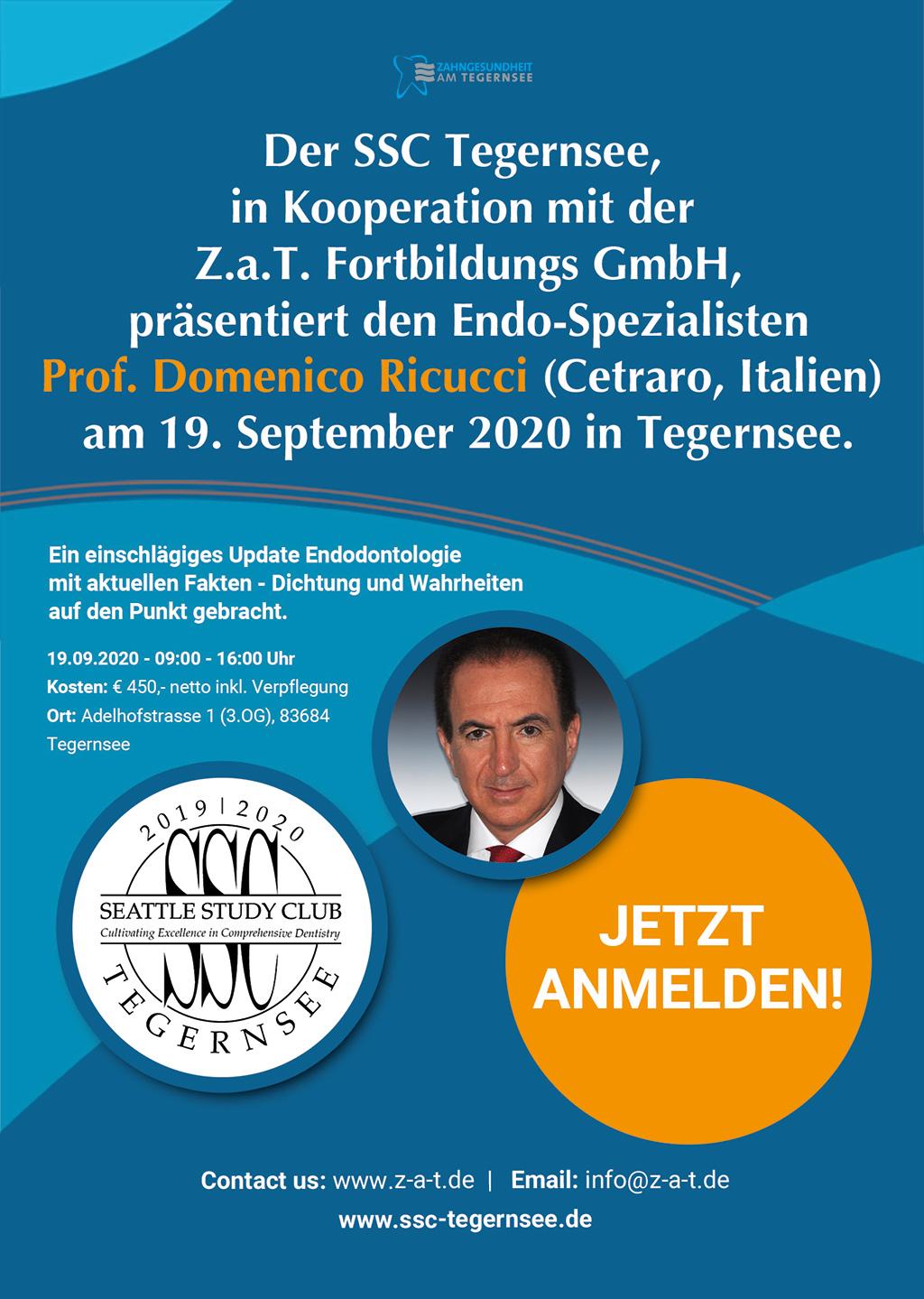 Endo-Spezialist Prof. Domenico Ricucci zu Gast in Tegernsee